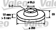 Disque de frein - VALEO - 197009