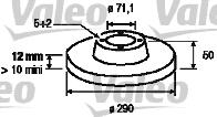 Disque de frein - VALEO - 197010