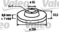 Disque de frein - VALEO - 197011