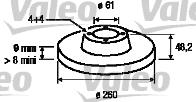 Disque de frein - VALEO - 197014