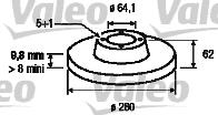 Disque de frein - VALEO - 197016