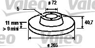 Disque de frein - VALEO - 197021