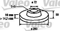 Disque de frein - VALEO - 197023