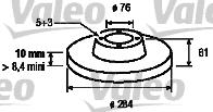 Disque de frein - VALEO - 197027