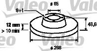 Disque de frein - VALEO - 197031