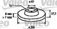Disque de frein - VALEO - 197036