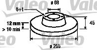 Disque de frein - VALEO - 197038