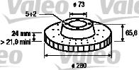 Disque de frein - VALEO - 197043