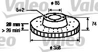 Disque de frein - VALEO - 197051