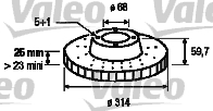 Disque de frein - VALEO - 197052