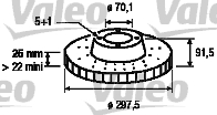 Disque de frein - VALEO - 197062