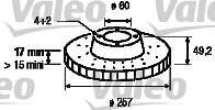 Disque de frein - VALEO - 197064