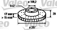 Disque de frein - VALEO - 197065