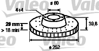 Disque de frein - VALEO - 197066