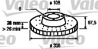 Disque de frein - VALEO - 197071