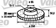 Disque de frein - VALEO - 197088