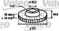 Disque de frein - VALEO - 197096