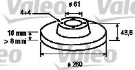Disque de frein - VALEO - 197103