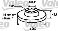Disque de frein - VALEO - 197104