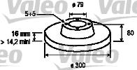Disque de frein - VALEO - 197105