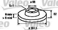 Disque de frein - VALEO - 197106