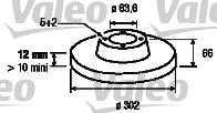 Disque de frein - VALEO - 197107