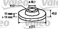 Disque de frein - VALEO - 197108