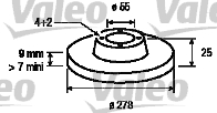 Disque de frein - VALEO - 197111