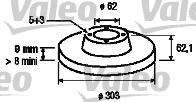 Disque de frein - VALEO - 197112