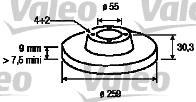 Disque de frein - VALEO - 197113