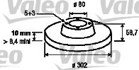 Disque de frein - VALEO - 197116