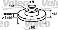 Disque de frein - VALEO - 197120