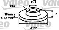 Disque de frein - VALEO - 197121