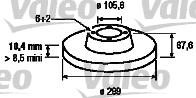 Disque de frein - VALEO - 197122