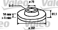 Disque de frein - VALEO - 197123