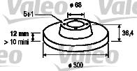 Disque de frein - VALEO - 197126