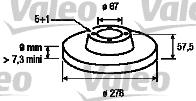 Disque de frein - VALEO - 197128