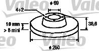 Disque de frein - VALEO - 197129