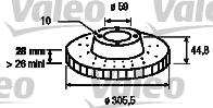 Disque de frein - VALEO - 197137
