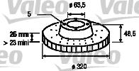Disque de frein - VALEO - 197143