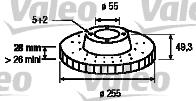 Disque de frein - VALEO - 197148