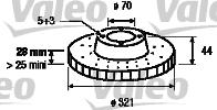 Disque de frein - VALEO - 197150