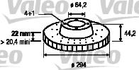 Disque de frein - VALEO - 197160