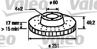 Disque de frein - VALEO - 197163