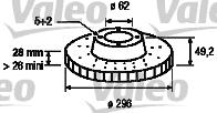 Disque de frein - VALEO - 197168