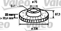 Disque de frein - VALEO - 197175