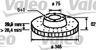 Disque de frein - VALEO - 197178