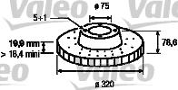 Disque de frein - VALEO - 197179