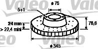 Disque de frein - VALEO - 197180