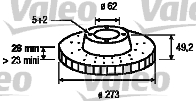 Disque de frein - VALEO - 197185